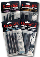 General Pencil Compressed Charcoal Sets