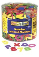Wonderfoam 1/2 Pount Tub of Letters & Numbers