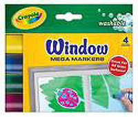 Crayola Window  Mega Markers 4 ct