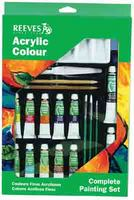 Reeves Acrylic Colour Complete Painting Set
