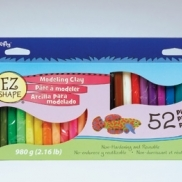 EZ Shape Modeling Clay, 52 color sampler