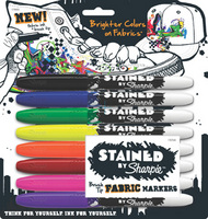 Stained Sets of Sharpie Fabric Markers