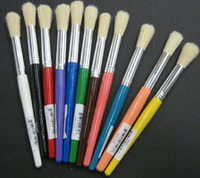 Stubby Brushes with Color Handles