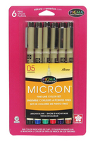 Pigma Micron .05  6-color set