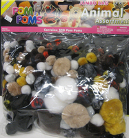 Jumbo Animal Pom Pom Assortment