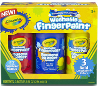 NEW Crayola Fingerpaint Set BOLD