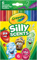 Silly Scents Chisel Tip Marker 6 count